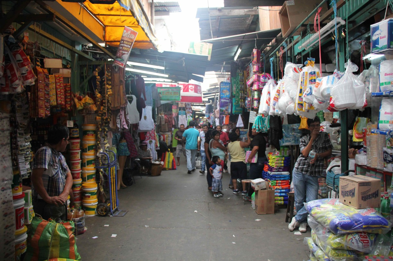 Inside of the market in Gamarra