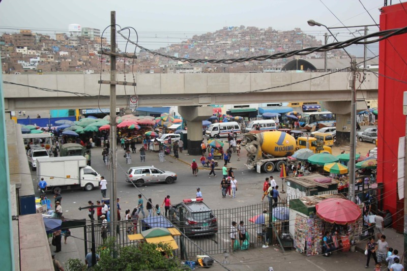 Traffic chaos in Gamarra