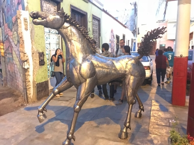 A horse made of metal, but what I really like...