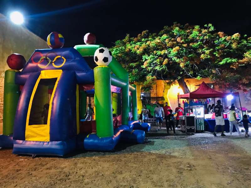 A bouncer castle for the children