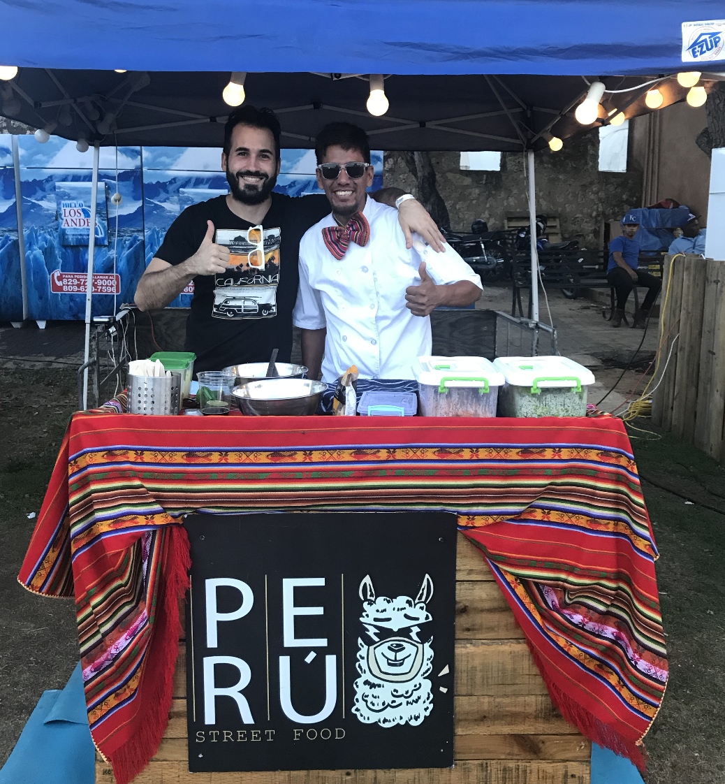 A picture with Luis Pacheco from 'Peru Street Food'.