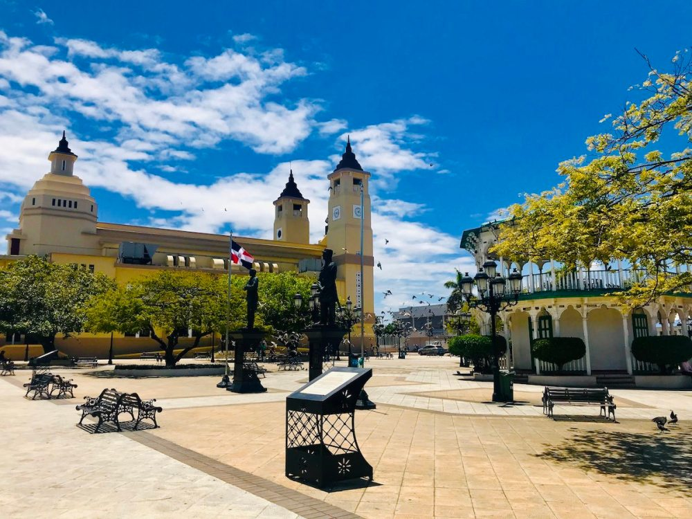 The central square of Puerto Plata is beautiful constructed and very ample.