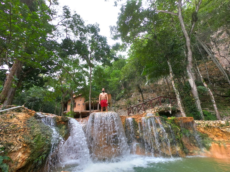 Natural waterpark in the Dominican Republic