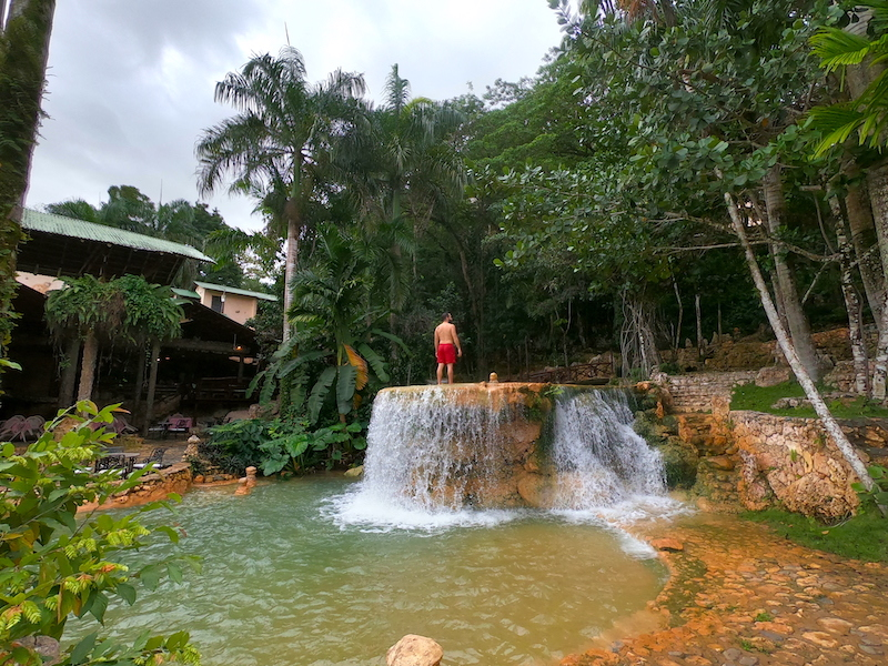 Natural waterfalls in the Dominican Republic