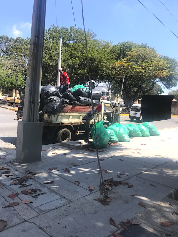 Garbage truck in the Dominican Republic