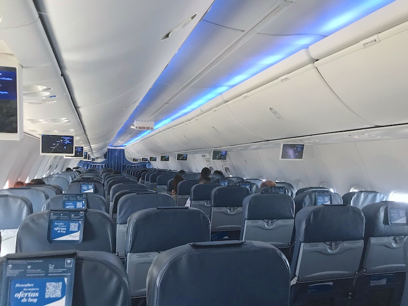 empty airplane from air europa